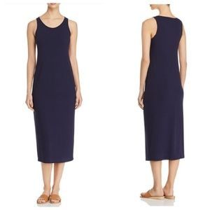 Eileen Fisher Navy Scoop Neck Tank Dress